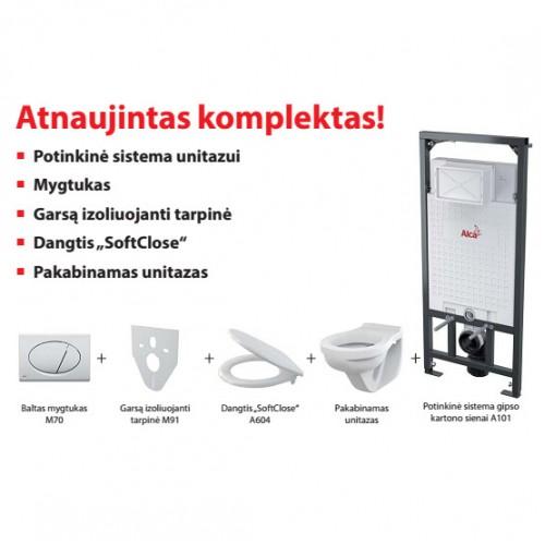 KOMPLEKTAS ALCAPLAST RĖMAS+ WC JIKA +SOFT